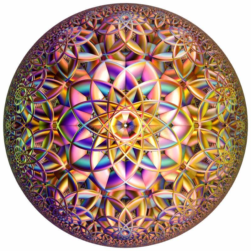 Gekleurde hyperbolische tessellation stock fotografie