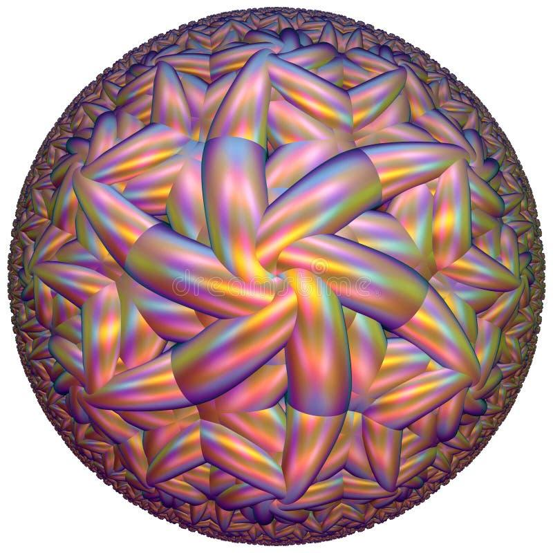 Gekleurde hyperbolische tessellation stock afbeeldingen