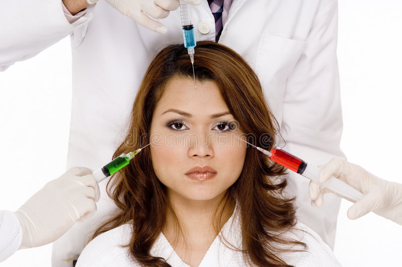 Gekleurde Injecties royalty-vrije stock foto
