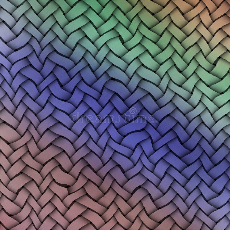 Gekleurde inslag Geweven textuurachtergrond Uitstekende Kleuren stock illustratie