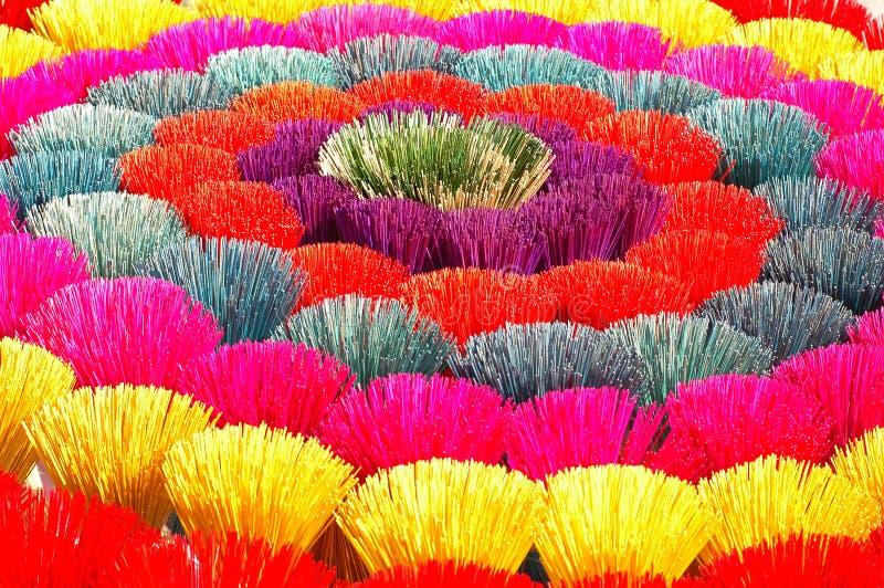 Gekleurde joss stokken in Vietnam royalty-vrije stock afbeeldingen