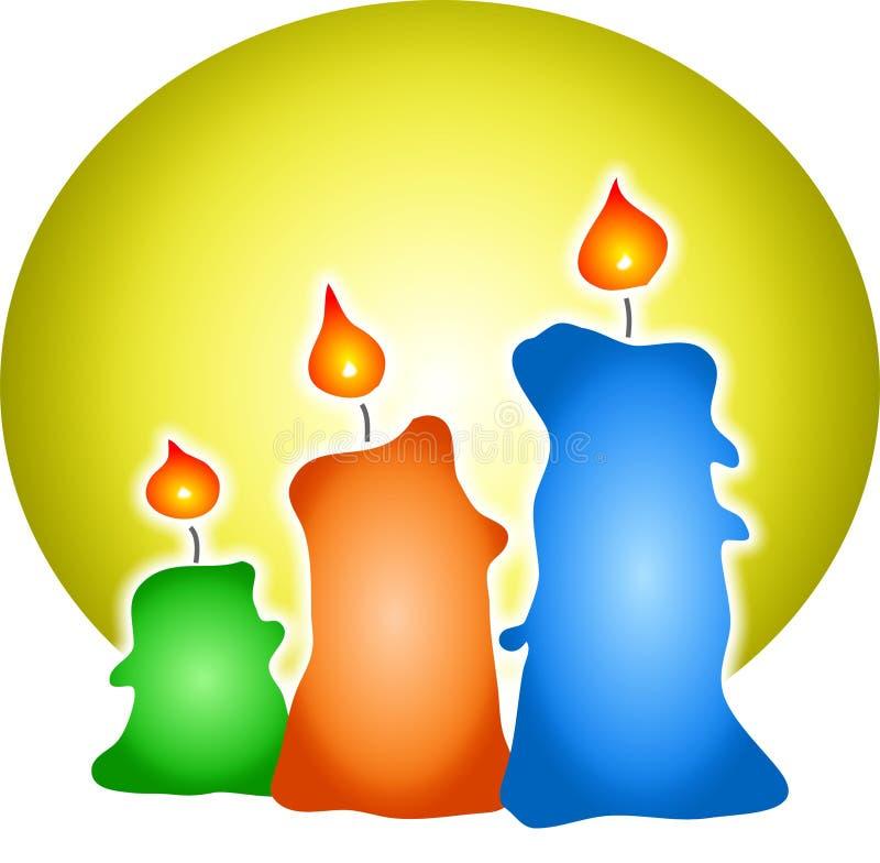 Gekleurde Kaarsen vector illustratie