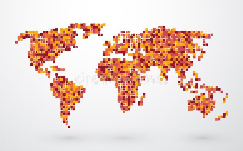 Gekleurde kaart van de Wereld vector illustratie