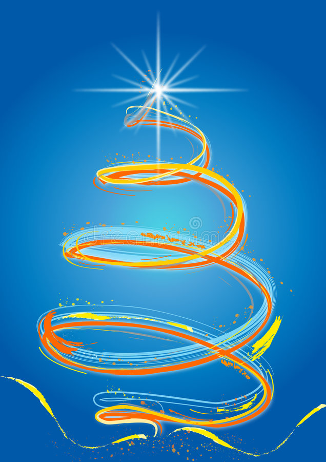 Gekleurde Kerstmisboom vector illustratie