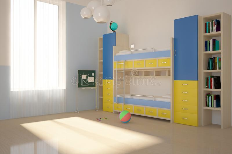 Gekleurde kinderenruimte stock illustratie