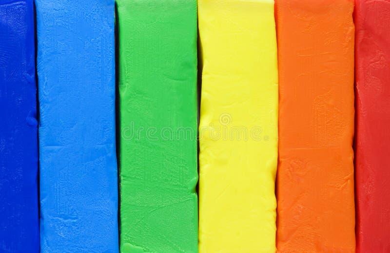 Gekleurde klei voor het vormen stock foto's