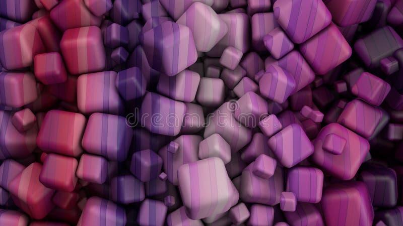 Gekleurde kubussen stock illustratie