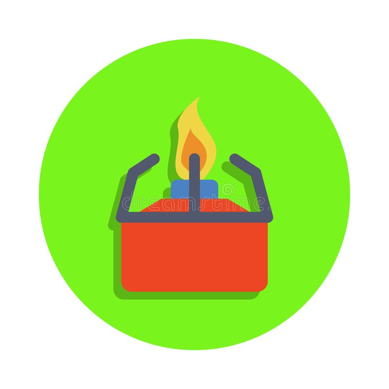 gekleurde laboratoriumgorilka in groen kentekenpictogram Element van wetenschap en laboratorium voor mobiel concept en Web apps G vector illustratie