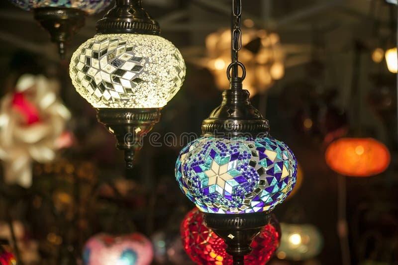 Gekleurde lantaarn stock fotografie