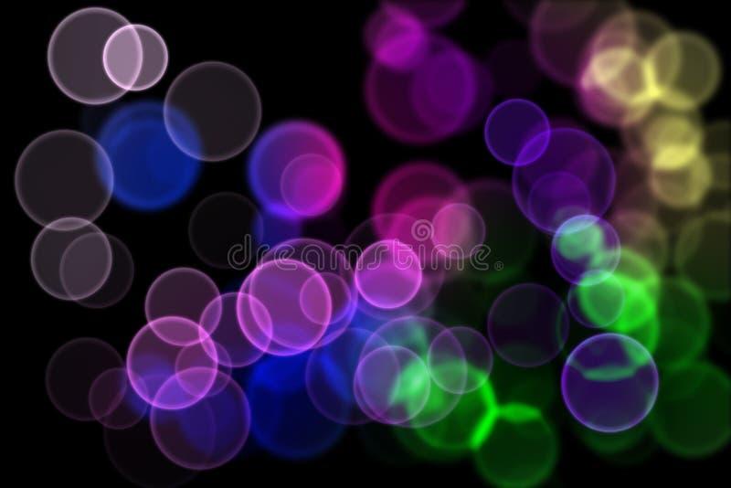Gekleurde lichten in de nacht stock illustratie