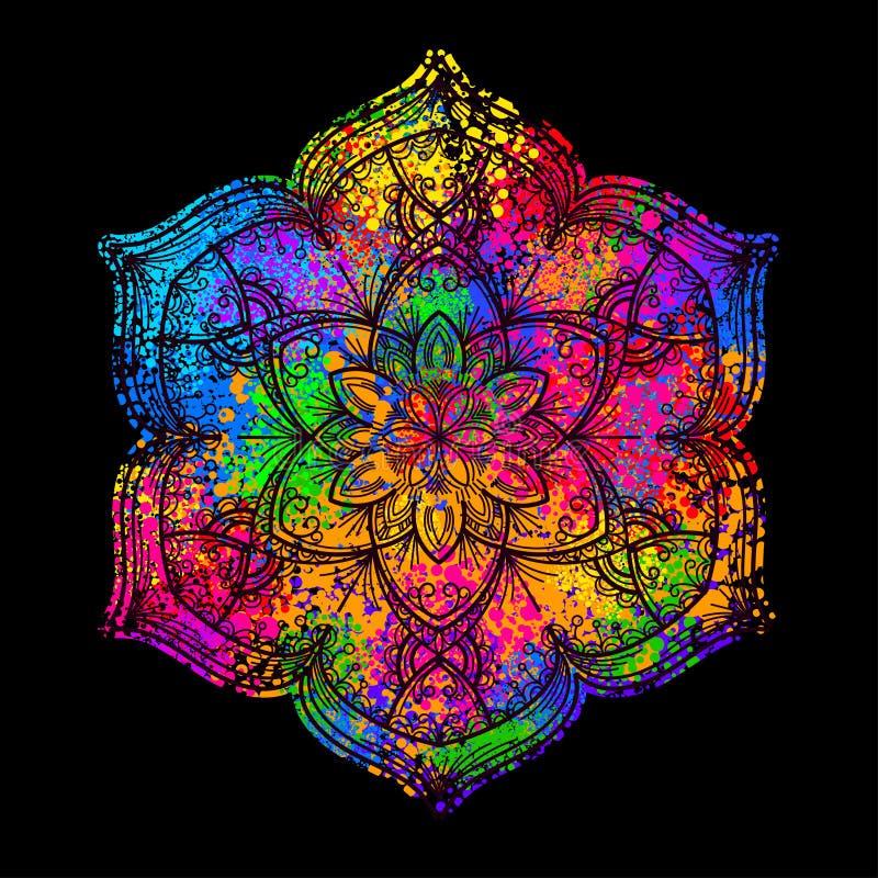 Gekleurde mandala 2 stock illustratie