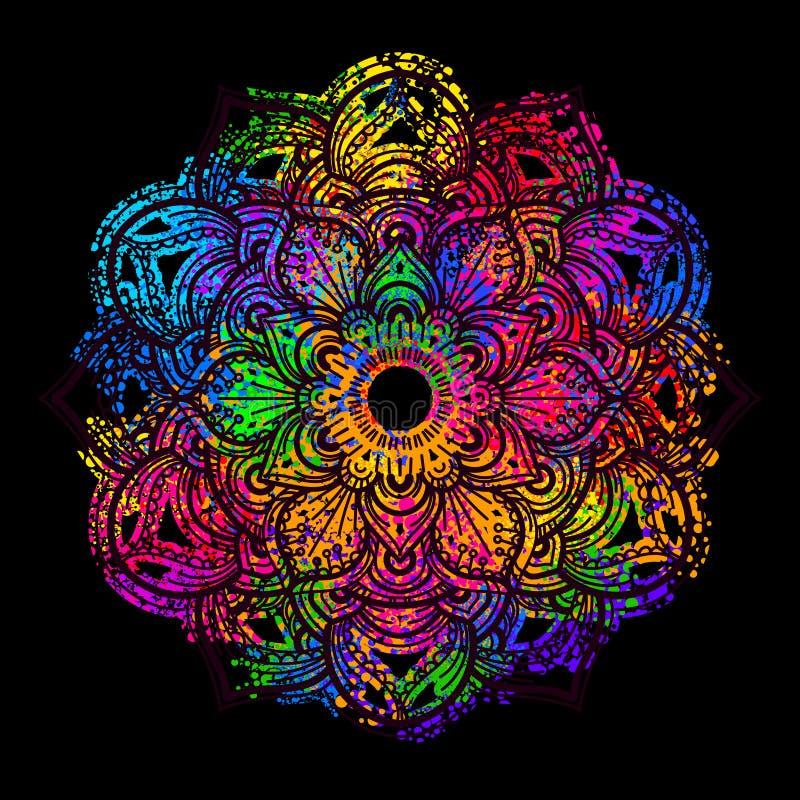 Gekleurde mandala 1 royalty-vrije illustratie