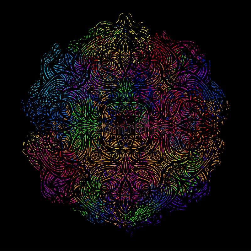 Gekleurde mandala 4 vector illustratie