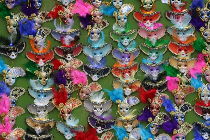 Gekleurde maskers royalty-vrije stock foto's