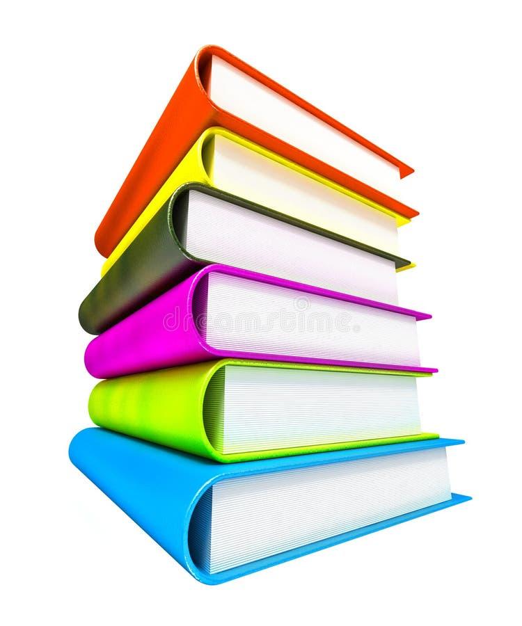 Gekleurde massieve boeken stock illustratie
