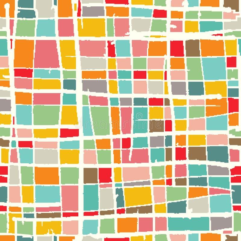 Gekleurde mozaïekachtergrond vector illustratie