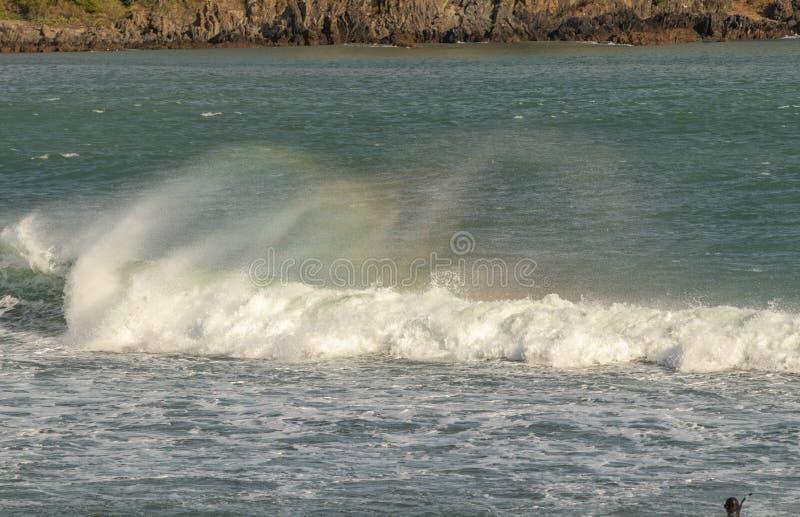 Gekleurde nevel van golven stock foto