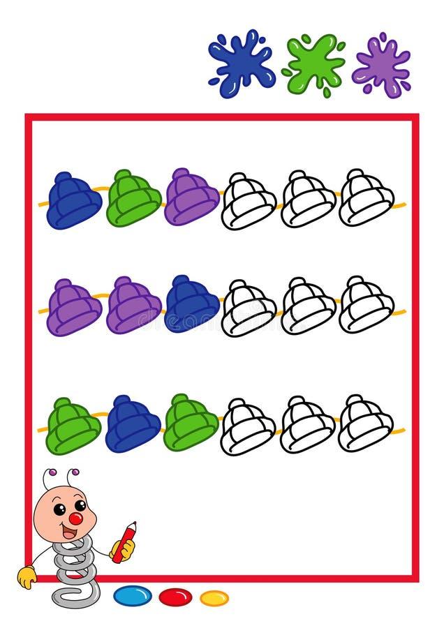 Gekleurde opeenvolging, hoed vector illustratie