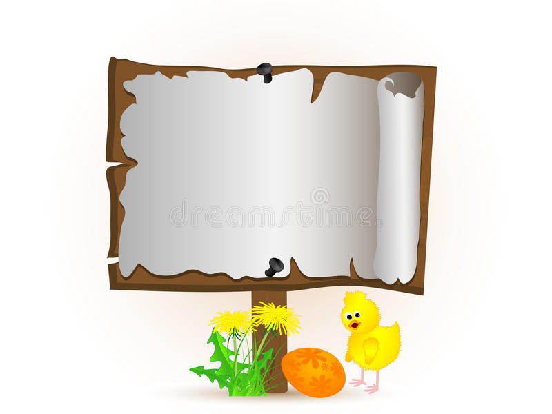 De achtergrond van Pasen royalty-vrije illustratie