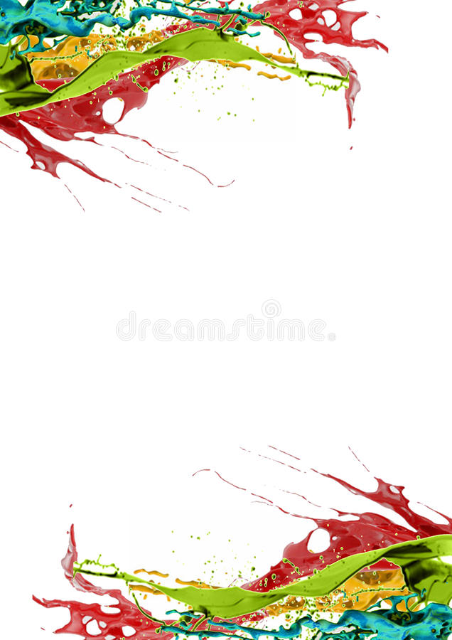 Gekleurde paginagrens stock foto's