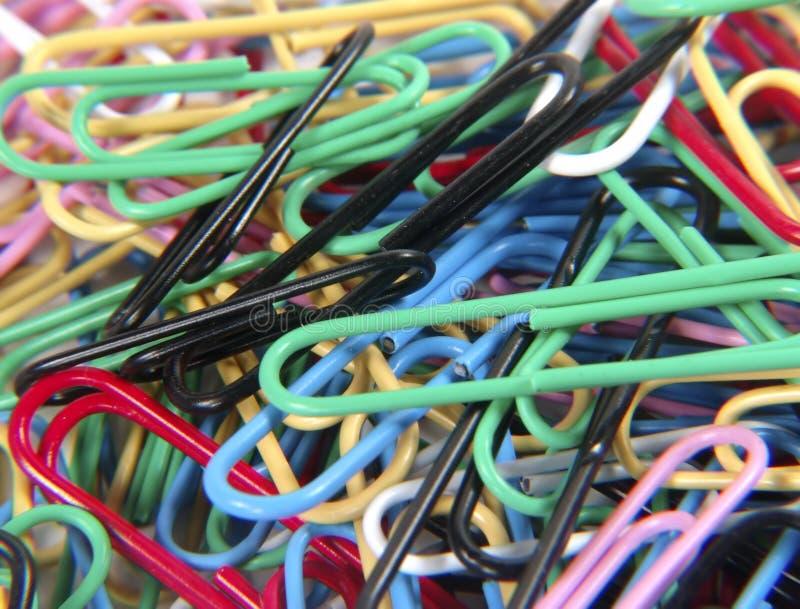 Gekleurde Paperclips stock afbeelding