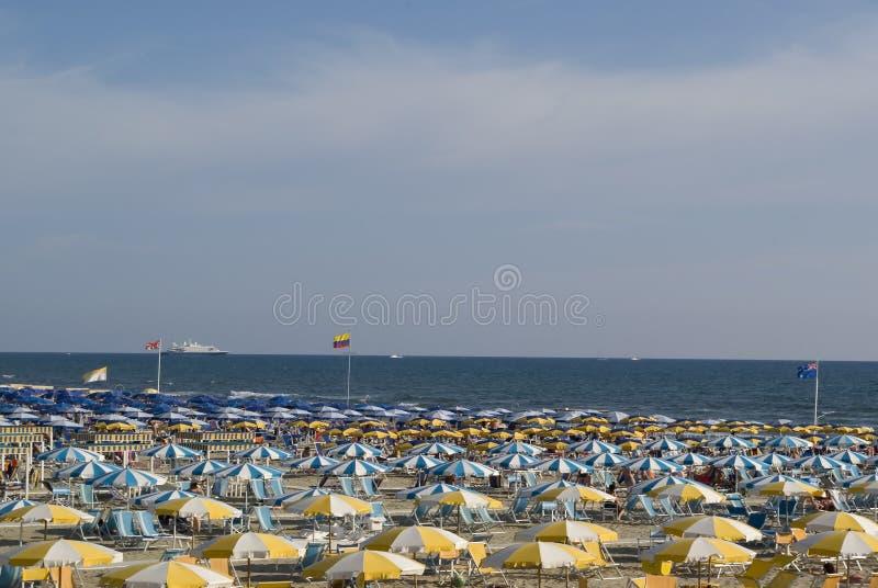 Gekleurde paraplu's stock afbeeldingen