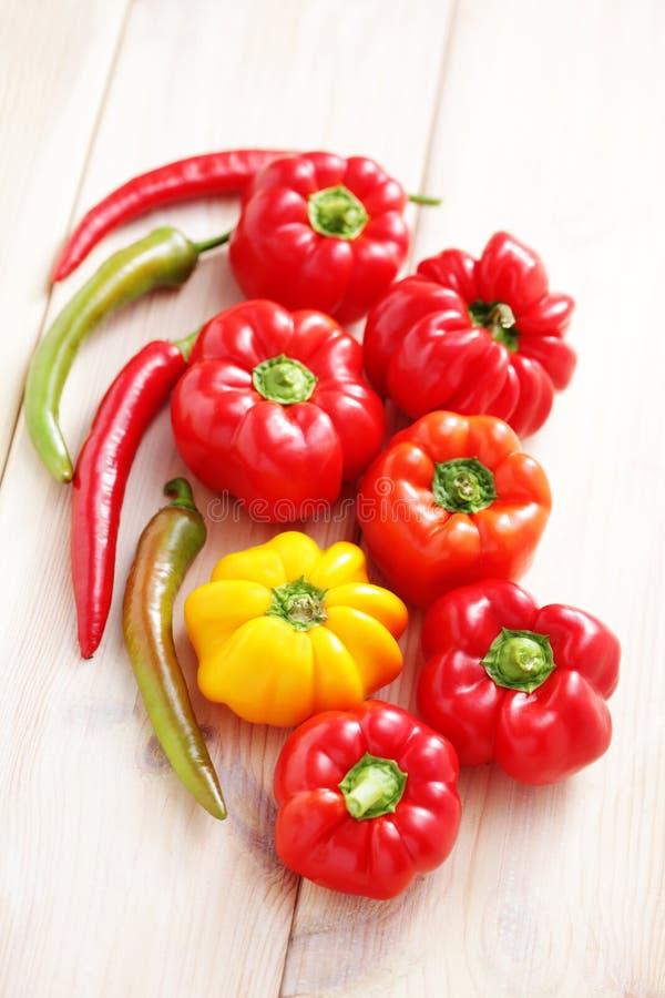 Gekleurde peper stock foto's