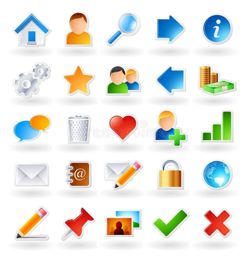 Gekleurde pictogrammen stock illustratie