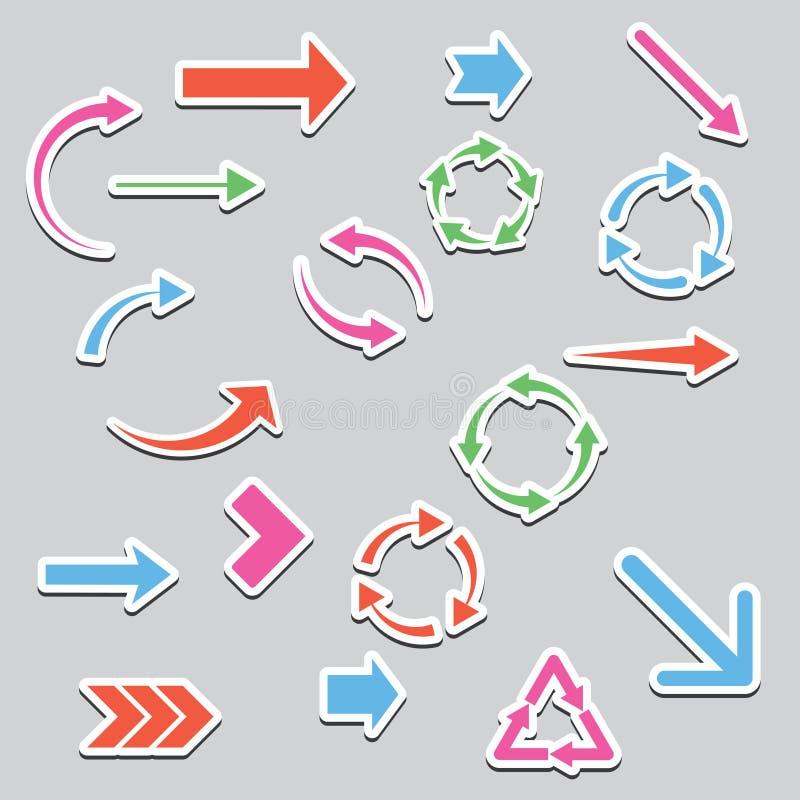 Gekleurde pijlen stock illustratie