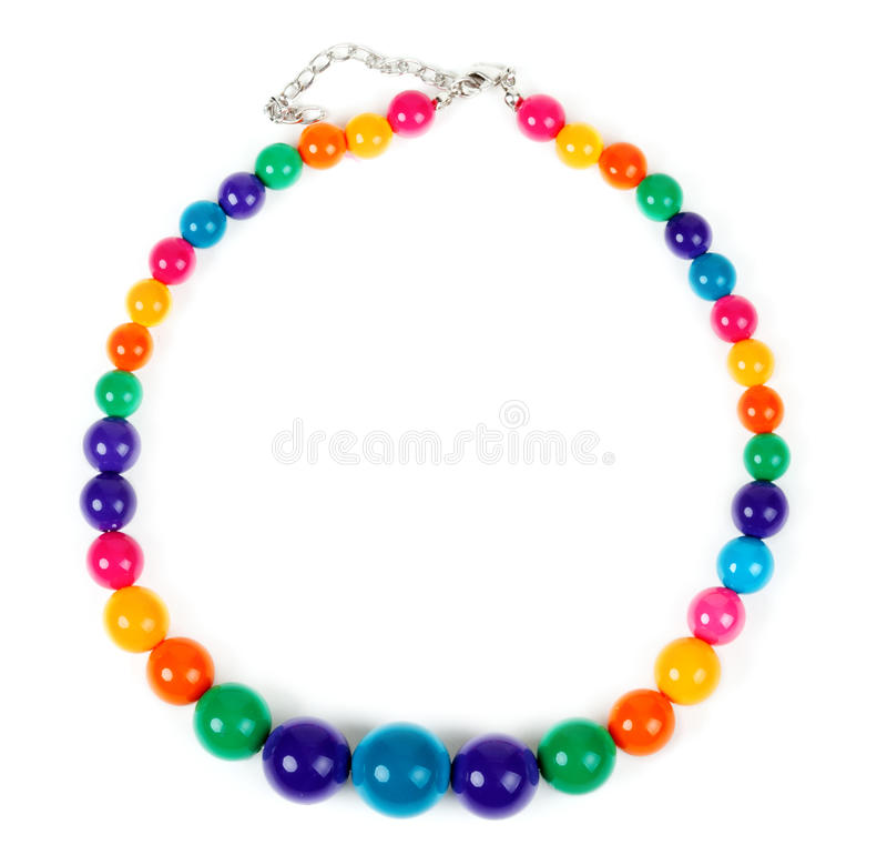 Gekleurde plastic parels royalty-vrije stock foto