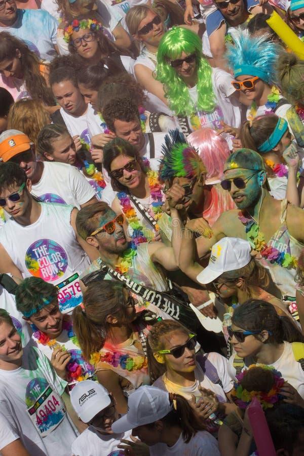 Gekleurde race in Genua stock fotografie