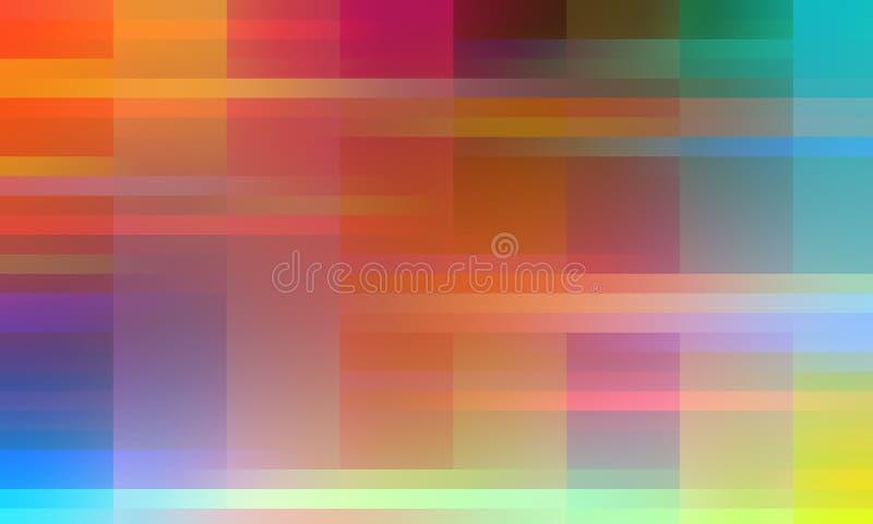 Gekleurde rode gele blauwe oranje lichtenvormen, achtergrond, textuur vector illustratie