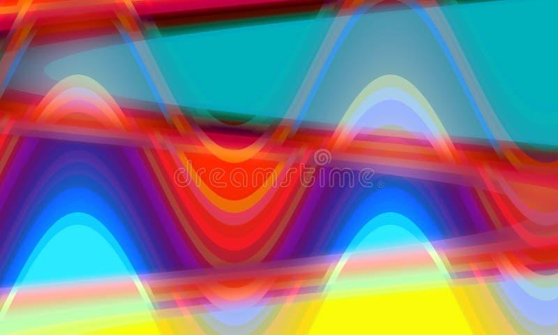 Gekleurde rode gele blauwe oranje vloeibare vormen, achtergrond, textuur vector illustratie