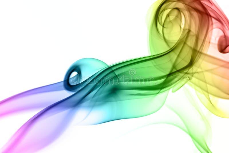Gekleurde rook stock afbeelding