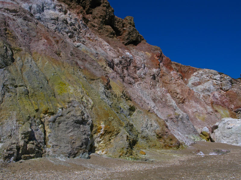 Gekleurde rotsen stock foto
