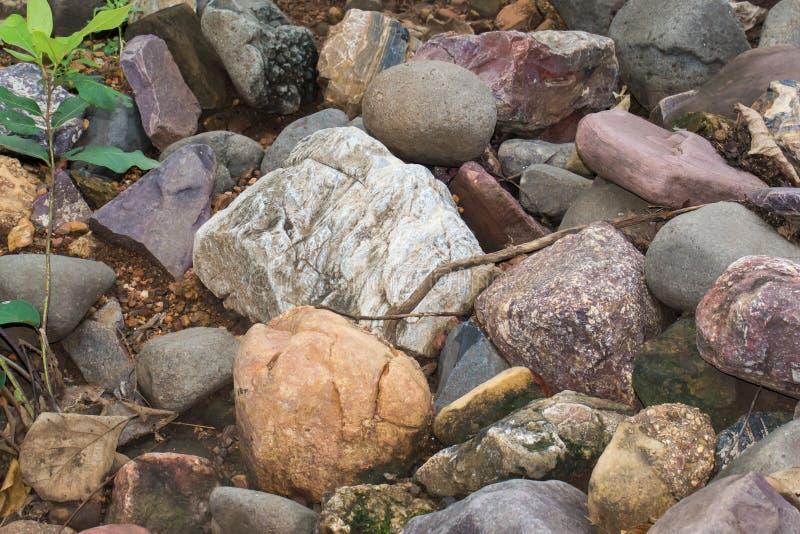 Gekleurde Rotsen en Stenen royalty-vrije stock afbeelding
