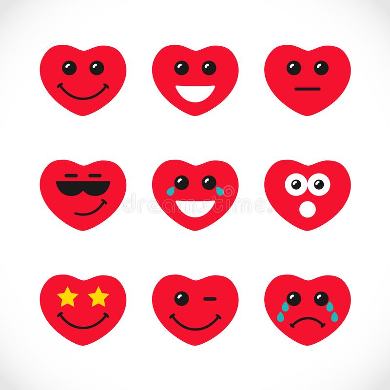 Gekleurde Smiley logotypes stock illustratie