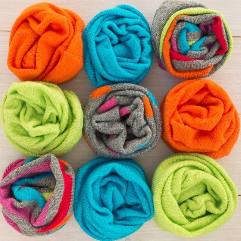 Gekleurde sokken royalty-vrije stock afbeeldingen