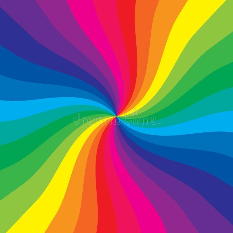 Gekleurde spiraal royalty-vrije illustratie