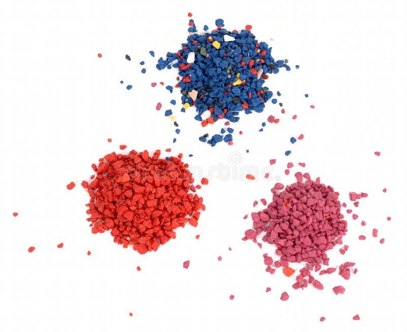 Gekleurde stenen stock afbeeldingen