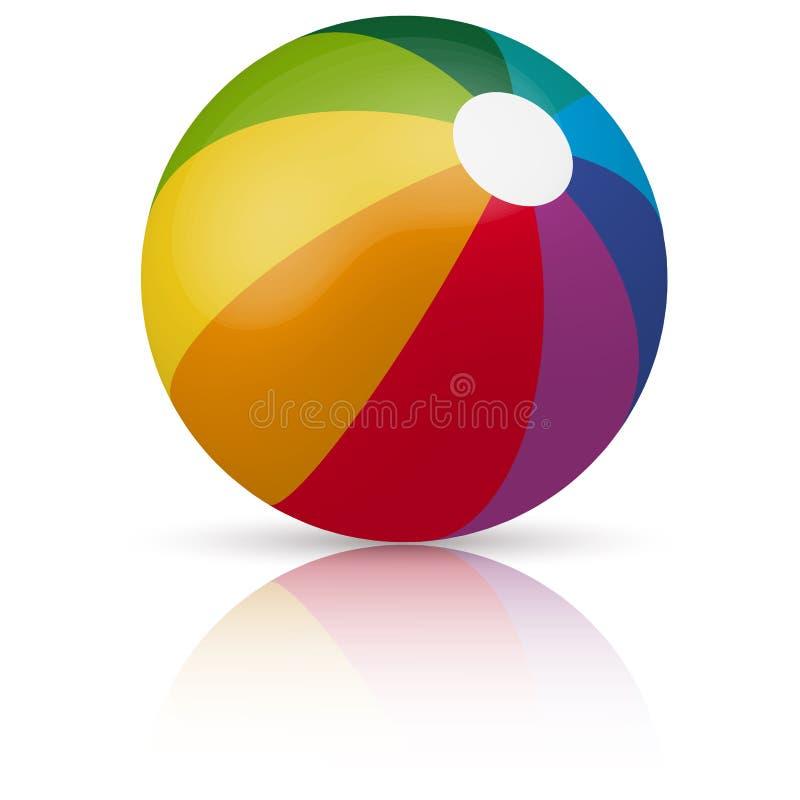 Gekleurde strandbal vector illustratie
