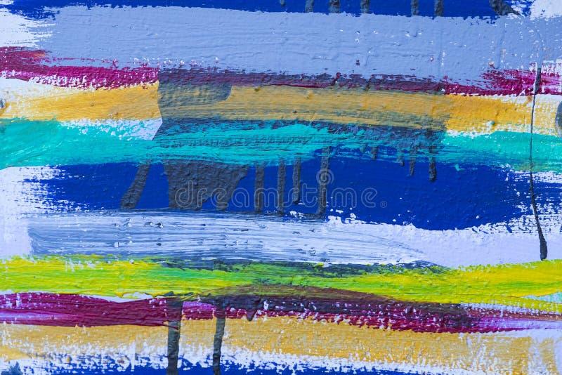 Gekleurde strepenachtergrond van acrylverf royalty-vrije illustratie