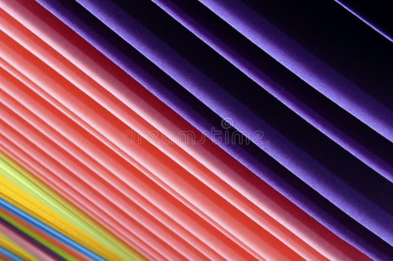 Gekleurde stukken van document royalty-vrije stock foto's