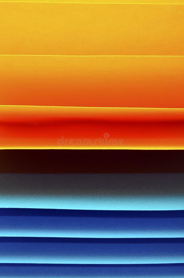 Gekleurde stukken van document stock foto's