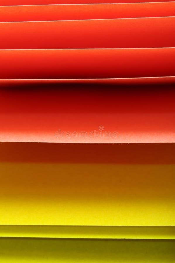 Gekleurde stukken van document royalty-vrije stock fotografie