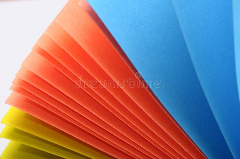 Gekleurde stukken van document stock fotografie