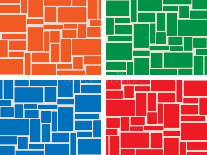 Gekleurde tegels stock illustratie