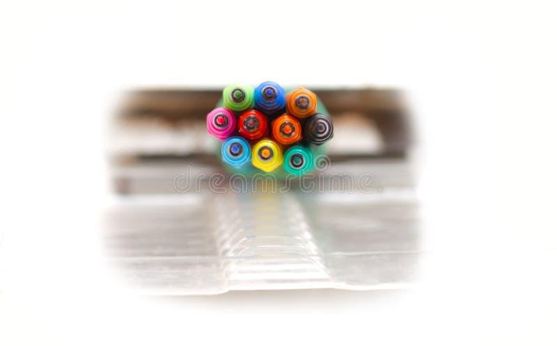 Gekleurde tellers stock foto's