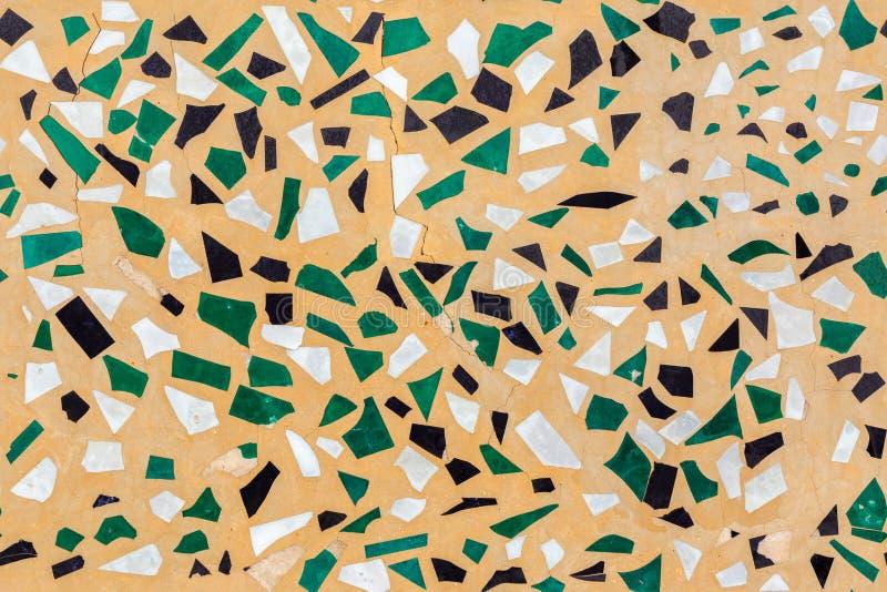 Gekleurde van het het mozaïekpleister van de glastroep de muur naadloze vlakke textuur stock foto