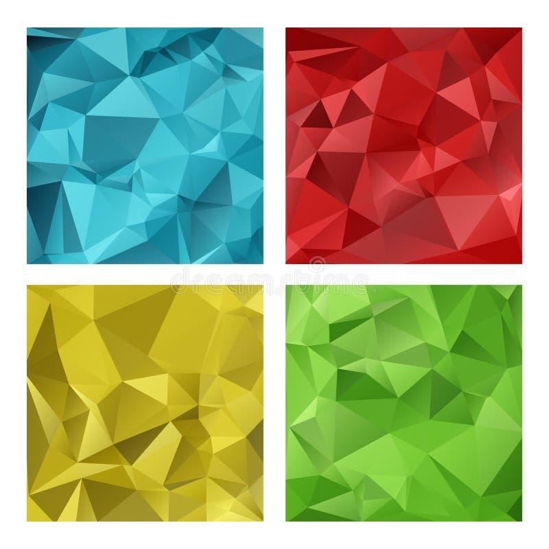 Gekleurde veelhoekige kaders royalty-vrije illustratie